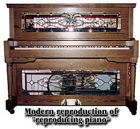 Modern reproduction of reproducing piano